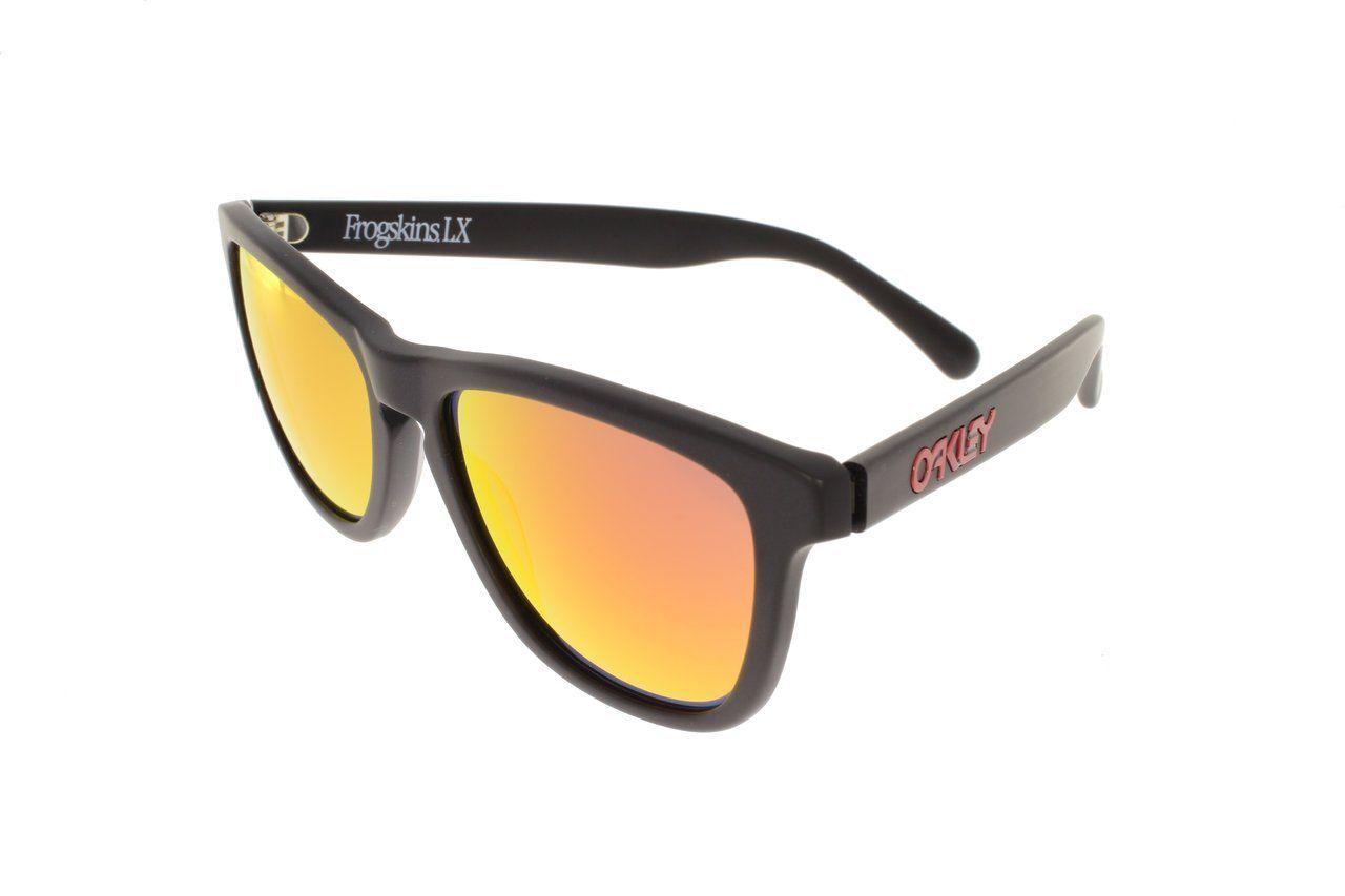 Oakley Frogskins LX Mat Noir avec / Rubis Iridium OO2043-02