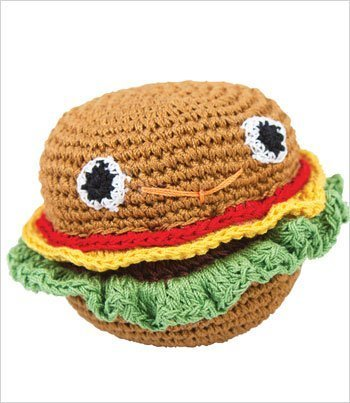Primary image for Knit Knacks Organic Crocheted Dog Toy - Hammie Hamburger