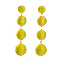 The Cats Pajama Canary Yellow Ball Drop Statement Earrings - $48.00
