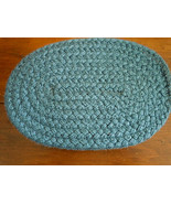 """Quality Blue Braided Oval Rug 9.5"""" x 7"""" for (S) Doll or Miniature Dollhouse - $5.99"""