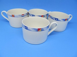 Habitat Americana Regatta Fitz & Floyd Nautical Cups Bundle of 4 EUC - $12.60