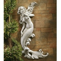 Outdoor Patio Wall Decor Mermaid Wall-Mounted Garden Statue - $152.31