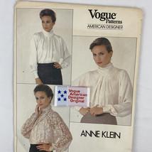 Vogue 11057 Anne Klein High Neck Draped Blouse Pattern w/Label Size 10 Cut - $12.60