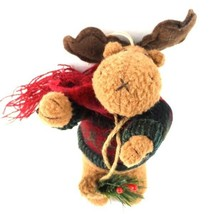 Reindeer Plush Christmas Tree Ornament Decor Toy 7 in Tall Stuffed  - $3.99