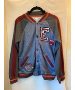 Bomber Jacket Epic Thread Boys Patches Charcoal Big Kids Size Large 10/1... - $34.55