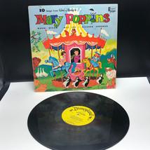 DISNEYLAND RECORD LP vintage walt disney Mary Poppins 1964 songs sleeve ... - $27.72