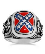 Stonewall Jackson CSA Cavalry Tribute ring Sterling Silver - $91.00