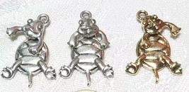 WIGGLY TURTLE FINE PEWTER PENDANT CHARM