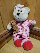Starbucks Bearista Bear Plush Teddy 2007 69th Stuffed Animal Pink Pajamas Girl - $13.07