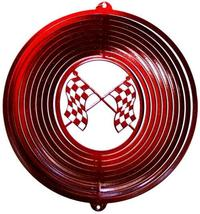 12 in stainless steel red Racing Flags USA 3D hanging yard wind spinner ... - €26,12 EUR