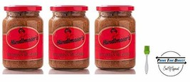 Händlmaier's Sweet Bavarian Mustard, 13.4 oz. Pack of 3 with Silicone Basting Br