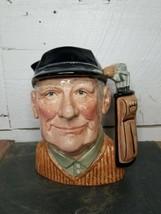 """Vintage Royal Doulton Character Jug: Golfer D6627 7.5"""" Large 1970 - $49.49"""
