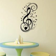 Music note, art, twirls song 3D Window Decal WALL STICKER Home Decor Art Mural - $6.92+