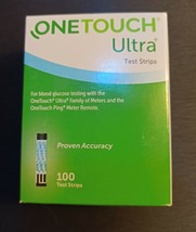 One Touch Ultra Blue test strips 100ct  expired 2021 - $50.68