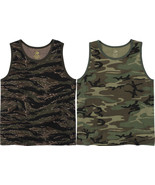 Vintage Camo Military Tank Top Tactical A Shirt Army Camo Muscle Sleevel... - $11.99+