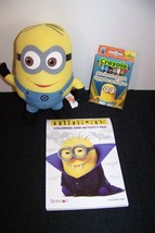 Minions coloring & activity pad, minion crayons, and minion Dave plush toy  - $13.61 CAD