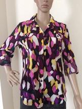 Dana Buchman Women's Shirt Medium Buttoned Down Shirt 3/4 Sleeves New - $18.25