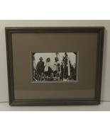 Custom Made Framed Matted Photograph 14in x 12in x 1in Vintage Glass Paper - $21.96