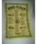Irish Songs Linen Cotton Tea Towel - $13.27