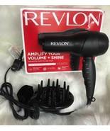 Revlon Amplify Hair Dryer W/ Volumizing volume shine black top speed no box - $29.65