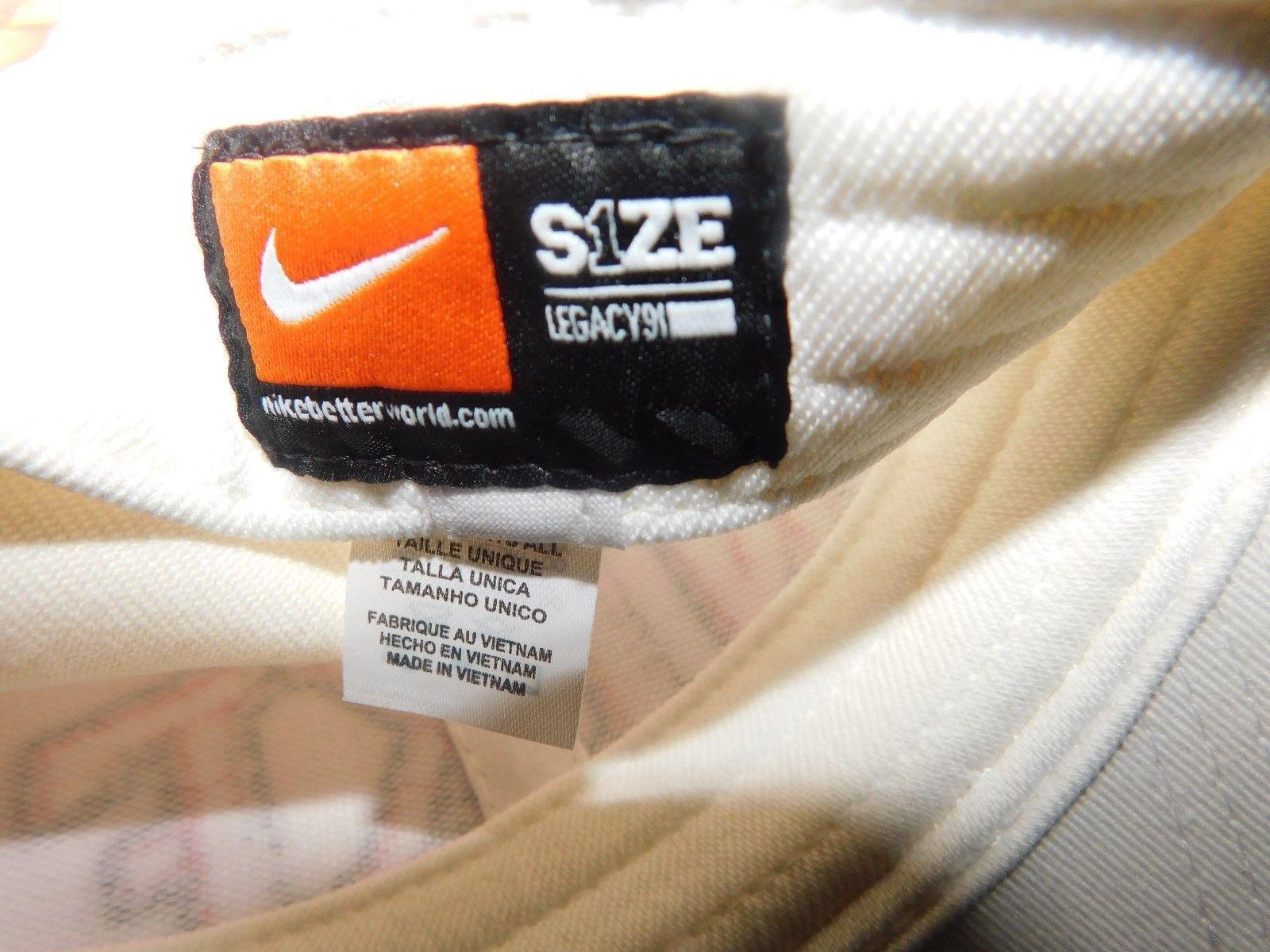 Nike Leg Block Swoosh White Hat One Size Brand New