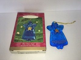Hallmark Keepsake Ornament Blue Glass Angel Sue Tague 2000 - £1.90 GBP
