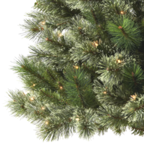 7.5ft Pre-lit Artificial Christmas Tree Slim Virginia Pine with Clear Lights NIB image 3