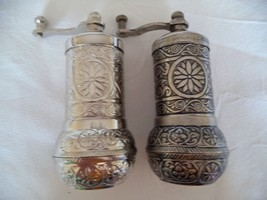 2 x Authentiqe Handmade AcarTurkish Coffee, Pepper,Salt Grinder Antique ... - £11.15 GBP