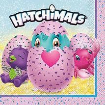 Unique 59302 Hatchimals Luncheon Napkins 6 5 x 6 5 16ct, Multicolor, One Size - $6.85
