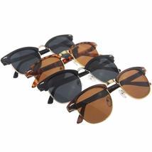 8c6855baae4 Half Metal Sunglasses Men Women 2018 Brand Designer Eyeglasses Mirror Su...  -  6.00
