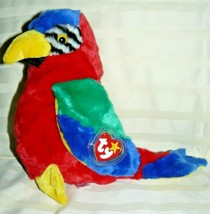 "1999 TY Original Beanie Buddy JABBER the Parrot 11"" - $9.47"
