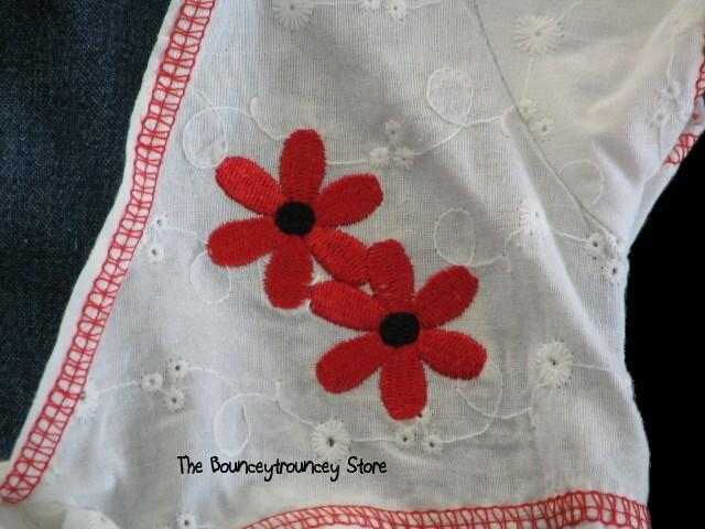 NWT Denim Ladybug Flower Shrug Summer  Dress 6