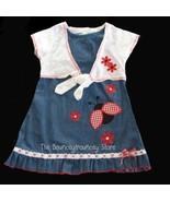 NWT Denim Ladybug Flower Shrug Summer  Dress 6 - $9.99