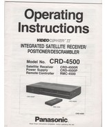Panasonic Videocipher II Model No. CRD-4500 Integrated Statellite Receiv... - $4.00