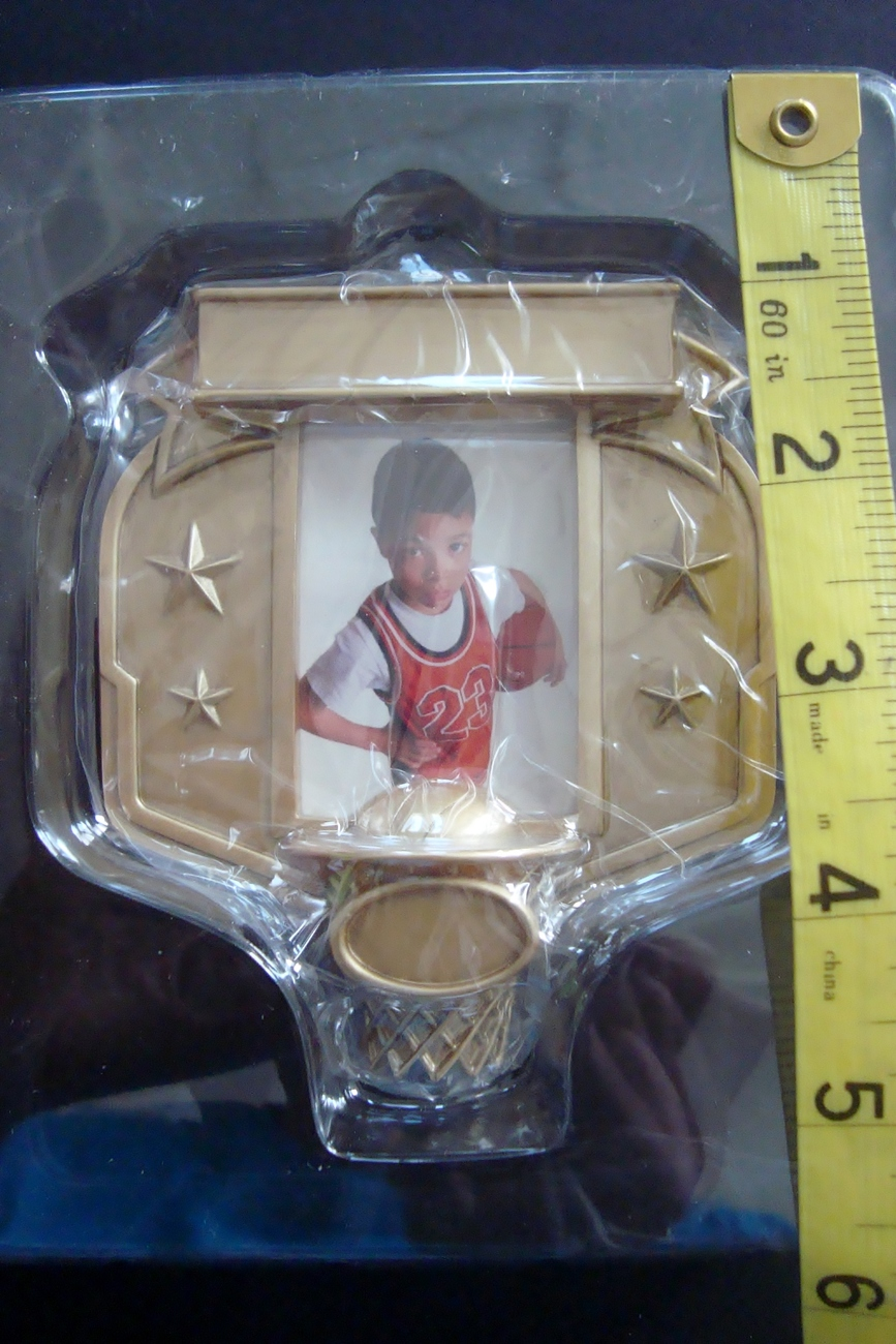 Hallmark Every Kid's a Star Basketball Picture Frame Christmas Ornament