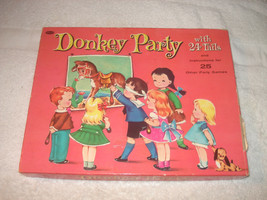 VTG 1952 Donkey Party Game Whitman Publishing w/ Party Games Booklet Com... - $14.84