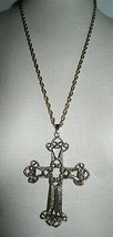 VTG SARAH COVentry GT Gothic Victorian Cross Limited Edition 1973 Necklace - $21.78