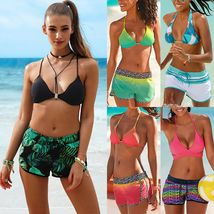 Women's Fashion Swimwear Padded Tankini Set Sporty with Boy Shorts Bikini Swimsu image 5