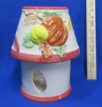 Autumn Candle Holder Lamp w/ Shade by Ganz Fall Pumpkin Harvest Thanksgi... - £12.14 GBP