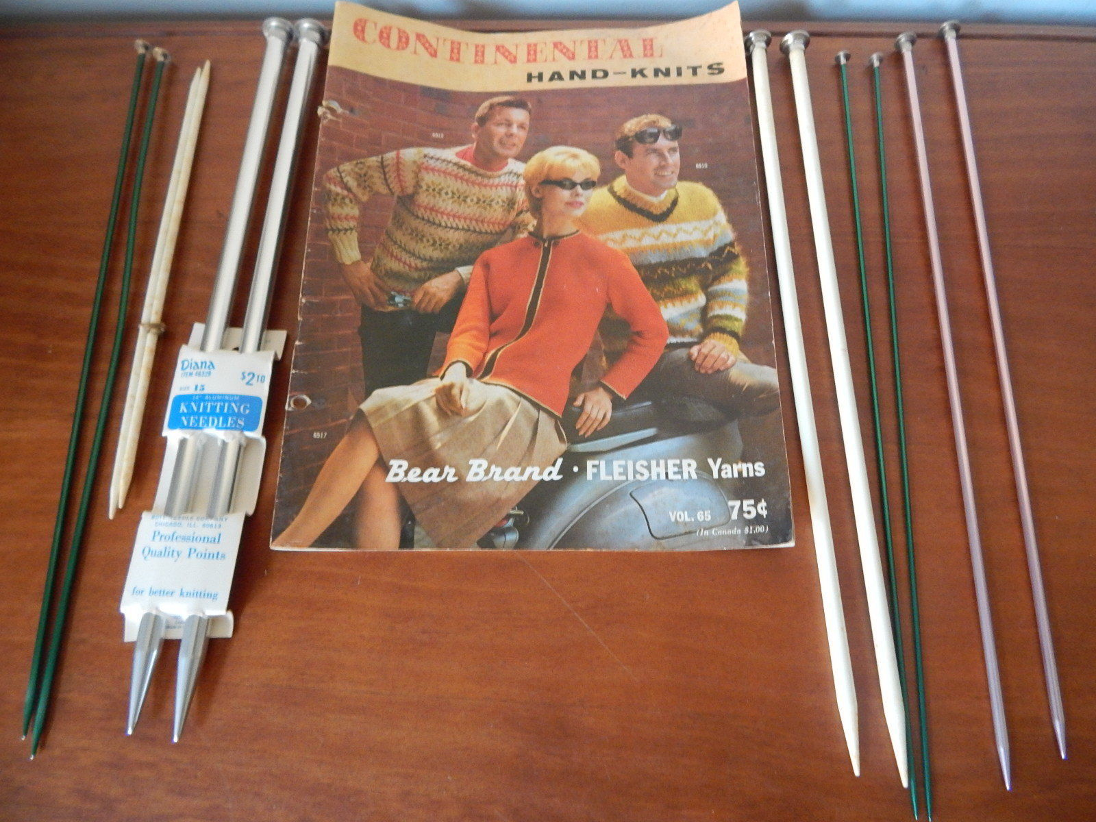 Primary image for 6 sets of Vintage 14 inch Diana, Boye Single Point knitting Needles Size 15, 6