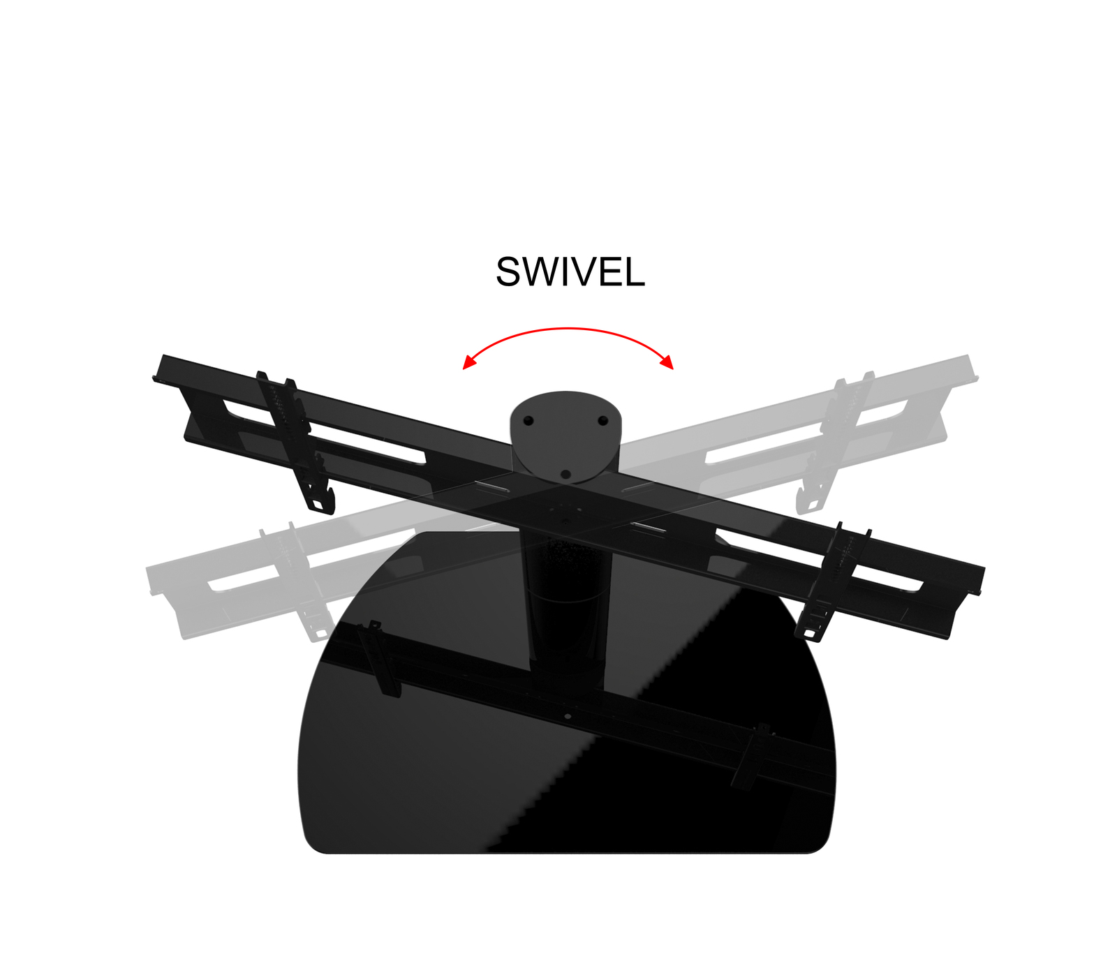 New Universal Replacement Swivel TV Stand/Base for Quasar SQ4800U