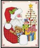 Christmas Magic santa cross stitch chart Alma Lynne Originals - $7.00
