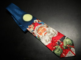 Ralph Marlin RM Holidays Neck Tie Santas Midnight Ride 1999 - $9.99