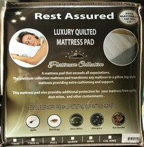 Quilted Fitted Hypoallergenic Mattress Pad Cover Protector Deep Pocket S... - $20.38+