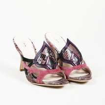 Miu Miu Snakeskin Slide Sandals SZ 38.5 - $260.00