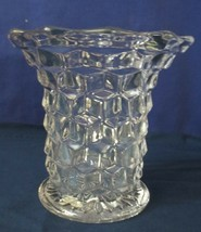"Vintage Fostoria American Flared Top  Vase 5"" tall bright EUC - $31.50"