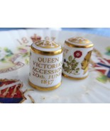 Royal Crown Derby Victoria And Albert Thimbles 150th Anniversary 1837 Co... - $40.00