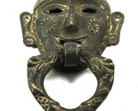 Ring Door Knocker Brass Tribal Face Shape Vintage Old Rare Handmade Piece