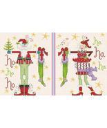 Mr and Mrs Santa Longstockings cross stitch chart Alma Lynne Originals - $7.00