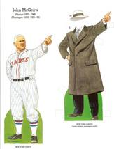 john mcgraw baseball paper doll 1985 new york giants - $9.99